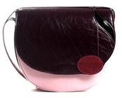 Kožená kabelka NOTA E10 Růžová kabelka přes rameno