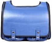 Kožená taška BOOKCASE modrá modrá kožená taška