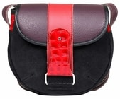 Kožená kabelka RULER černá Malá černá kabelka přes rameno