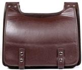 Kožená taška BOOKCASE hnědá hnědá kožená taška