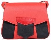 Kožená kabelka LUCERO malá červená kabelka přes rameno