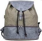 Kožený batoh 207 Batoh z plátna a šedé kůže