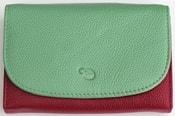 Dámská kožená peněženka barevná 10 07