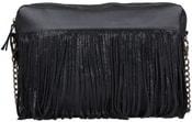 Kožená kabelka MARCELINA Černá kabelka přes rameno
