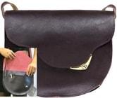 Kožená kabelka SOPHIE E7 Hnědá kabelka přes rameno