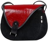 Kožená kabelka MOUSE 109 Černá kabelka přes rameno