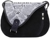 Kožená kabelka MOUSE 102 Černá kabelka přes rameno