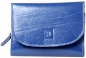 Modrá kožená peněženka 02-03 Dámská luxusní peněženka