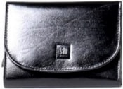 Černá kožená peněženka 02-01 Dámská luxusní peněženka