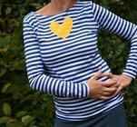 Pruhované tričko, velikost S