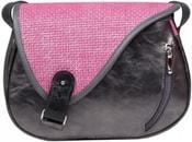 Kožená kabelka MOUSE 25 Černá kabelka přes rameno
