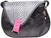 Kožená kabelka MOUSE 26 Černá kabelka přes rameno