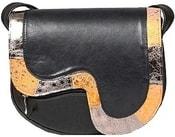 Kožená kabelka NEON černá kabelka přes rameno