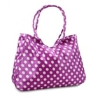 Velká textilní taška s puntíky