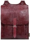 Kožený batoh BOOKPACK 505 vínový batoh