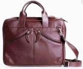 Luxusní kožená taška na notebook JO 200 hnědá taška do ruky i přes rameno