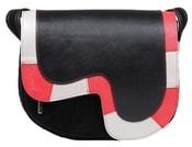 Kožená kabelka NEON 109 černá kabelka přes rameno