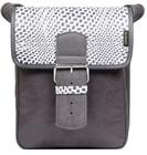 Kožená taška LECTURE 0210 šedá taška přes rameno